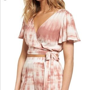 NWOT Mimi  Chica rayon tie dye top blush small